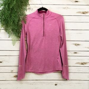 Nike pink half zip pullover size S